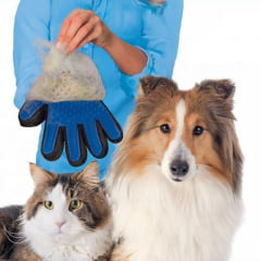 Luva para Remover Pelos Soltos de Animais de Estimação - True Touch